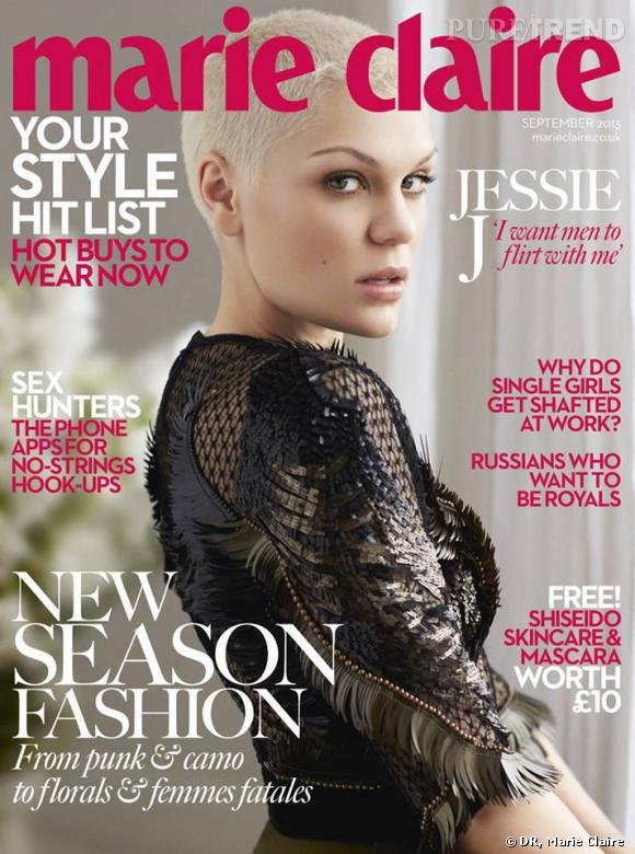 Jessie J en couverture du september issue de Marie Claire UK.