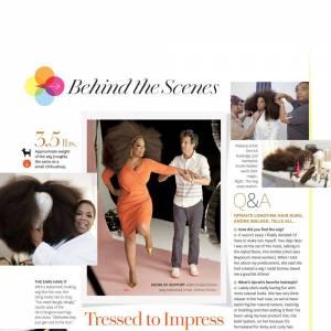 Dans les coulisses du shooting photo d'Oprah Winfrey.