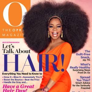 Oprah Winfrey ose la maxi afro en couv de O, The Oprah Magazine.