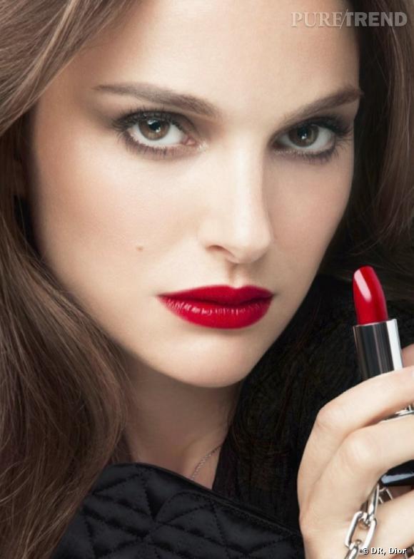 Natalie Portman, sexy et glamour pour Rouge Dior.