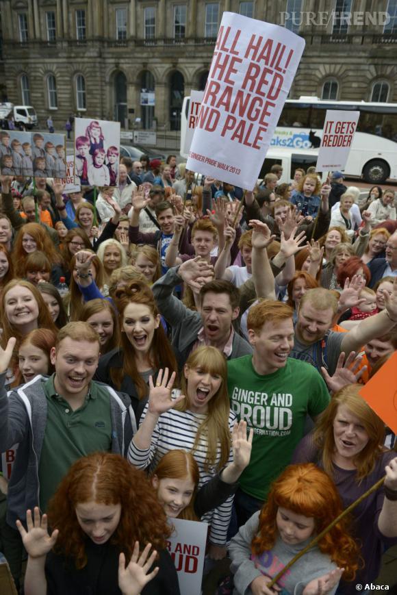 """La première """"Ginger Pride"""" s'est tenue ce week-end à Edimbourg."""