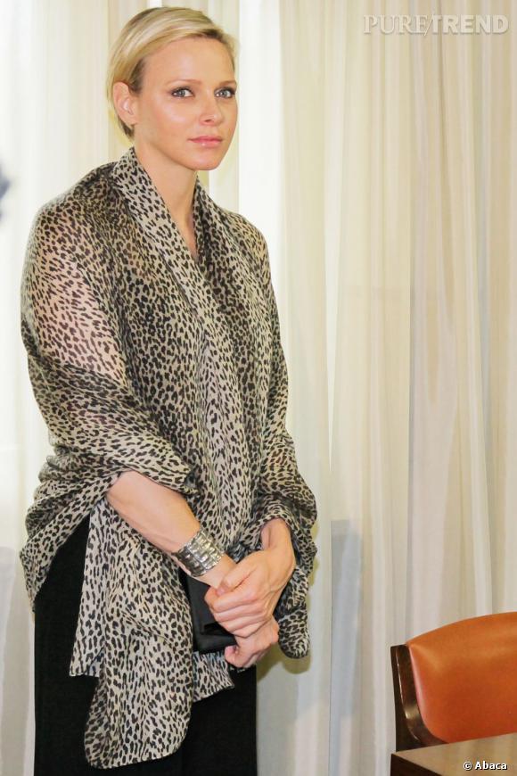 Charlene de Monaco, de l'audace en léopard.