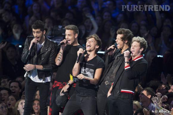 """Les One Direction aux MTV Video Music Awards 2013 où ils ont gagné le prix de la chanson de l'été pour """"Best Song Ever""""."""