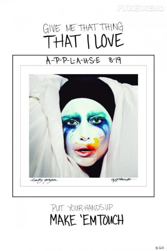 Lady Gaga a dévoilé la pochette de son single Applause, sur lequel elle est maquillée comme Arlequin. Une vraie palette d'artiste peintre.