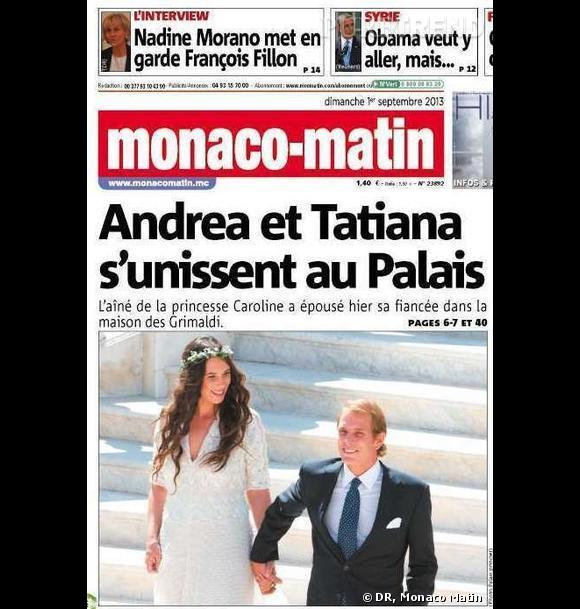 Tatiana Santo Domingo et Andrea Casiragi se sont mariés à Monaco le 31 août dernier.