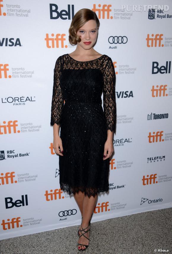 Léa Seydoux, renversante à Toronto.