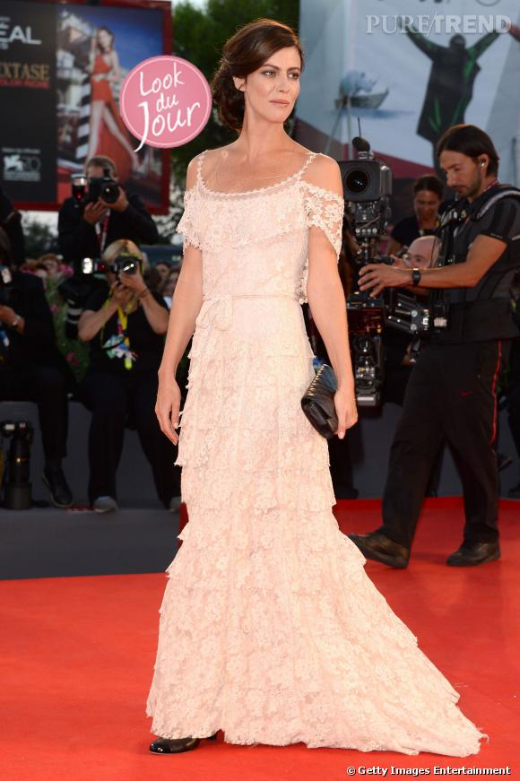 """Anna Mouglalis à la première de """"La Jalousie"""" à la Mostra de Venise le 5 septembre 2013."""