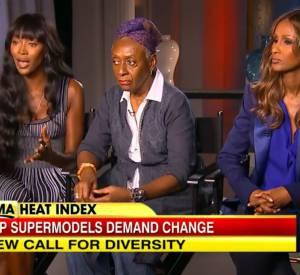 "Naomi Campbell, Iman et Bethann Hardison en interview pour ""Good Morning America""."