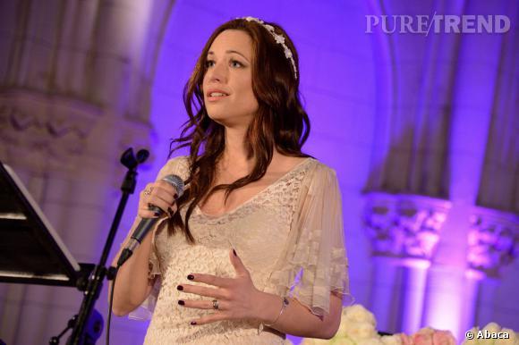 Natasha St-Pier a déjà pris l'habitude de chanter dans des églises.