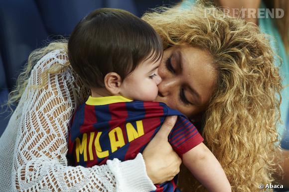 Shakira et son fils Milan assistaient, samedi, à un match du FC Barcelone.