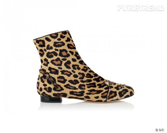 """It-shoes : 30 objets de désir pour cet Automne-Hiver 2013/2014    Bottes plates """"Puss in Boots"""", Charlotte Olympia, environ 945 €"""