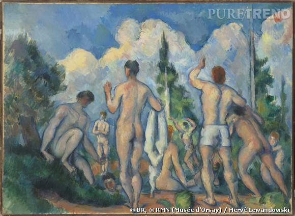 Paul Cézanne (1839-1906)     Baigneurs , vers 1890 Huile sur toile, 60,5 x 82,5 cm Paris, musée d'Orsay  ©  RMN (Musée d'Orsay) / Hervé Lewandowski