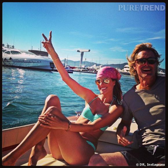 Alessandra Ambrosio, bien contente d'être à Saint Tropez !