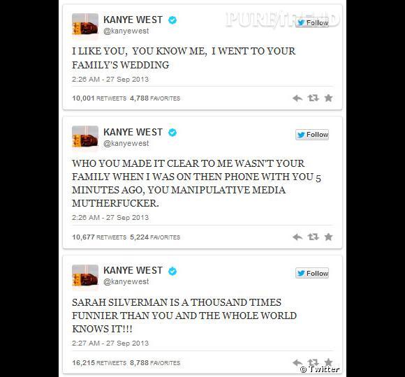 Et enfin, Kanye West essaie de culpabiliser le présentateur.