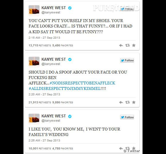 Kanye West continue de s'énerver contre Jimmy Kimmel...