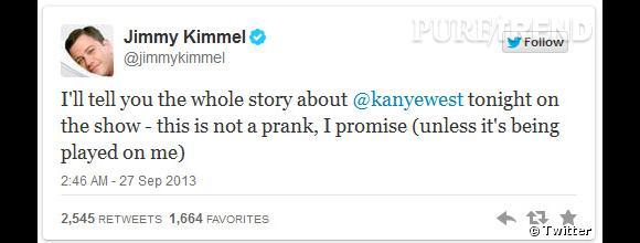 Jimmy Kimmel ne pouvait que profiter de cette agression de tweets pour en faire une émission !
