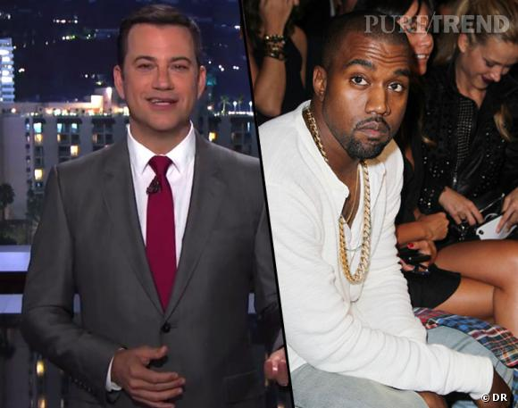 Kanye West et Jimmy Kimmel sont en guerre sur Twitter ! Le rappeur n'aurait pas apprécié la parodie que le présentateur a fait de son interview pour BBC Radio 1.