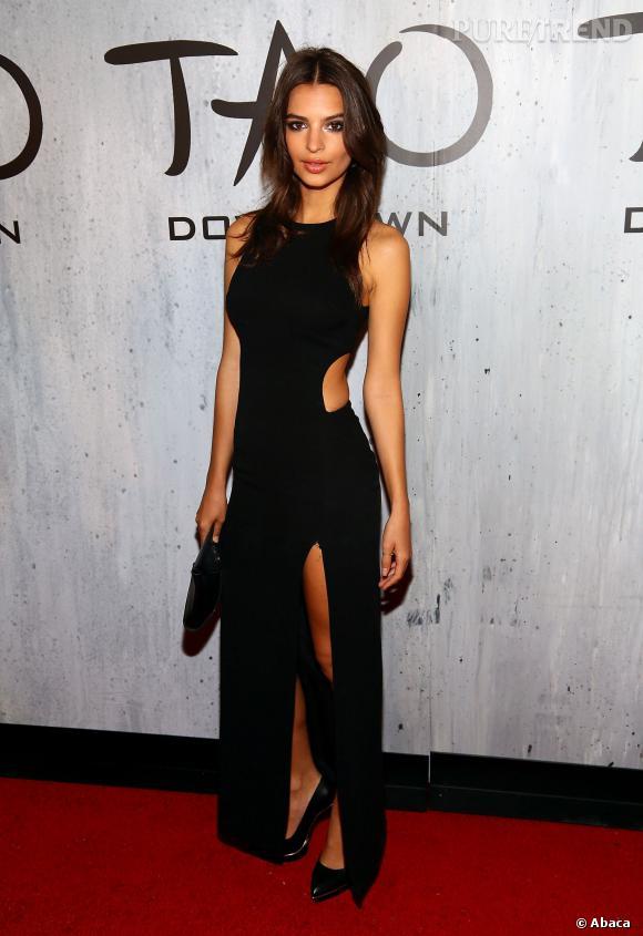 Emily Ratajkowski, ultra sexy pour l'ouverture du restaurant TAO Downtown le samedi 28 septembre à New York.