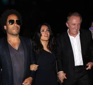 Salma Hayek, Lenny Kravitz, Francois-Henri Pinault : triangle amoureux a Paris