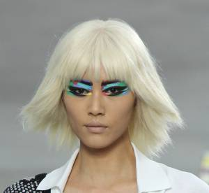 La paupière technicolore, must have du défilé Chanel Printemps-Eté 2014
