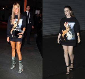 Anna Dello Russo VS Lily Collins : le sweat Bambi Givenchy