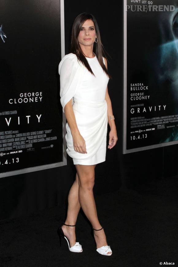"""Sandra Bullock à la première de """"Gravity"""" à New York le 1 octobre 2013."""
