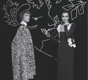 """Niels Schneider dans le rôle de Maurice Sachs et  Farida Khelfa dans celui de Garance, photographiés dans la série """"OPIUM"""" par Karl Lagerfeld."""