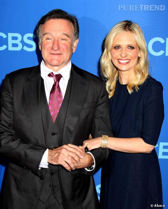 """Sarah Michelle Gellar est tombée sous le charme de Robin Williams, son partenaire de la série """"The Crazy Ones""""."""