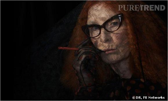 """""""American Horror Story"""" saison 3 :     L'actrice :  Frances Conroy.    Son rôle :  Myrtle Snow."""