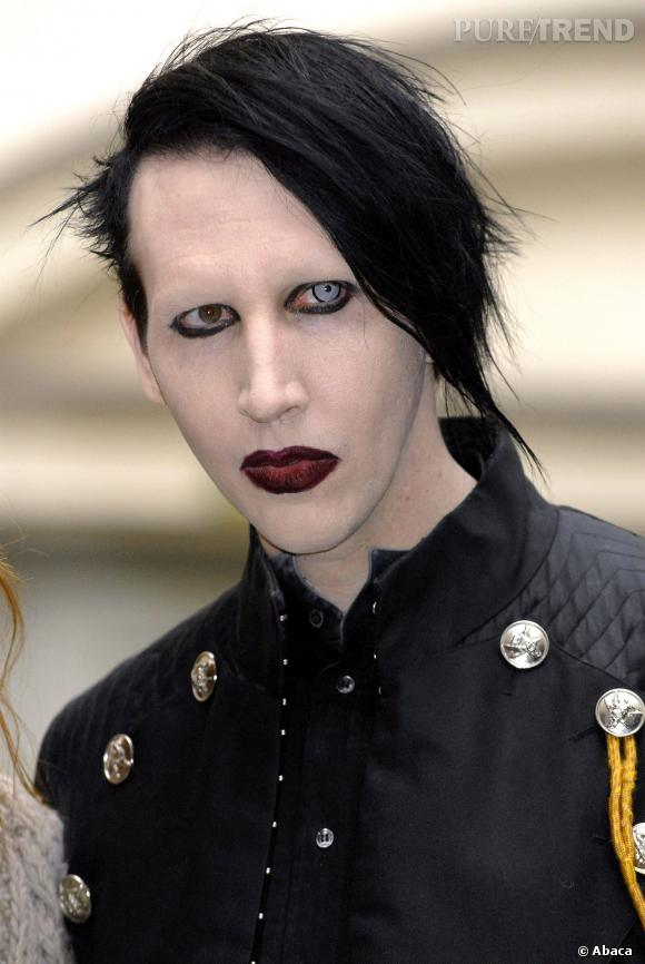 Marilyn Manson ne se montre jamais sans make-up.