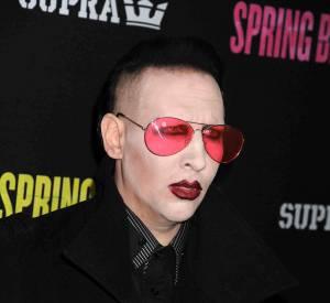 Le maquillage gothique de Marilyn Manson, c'est sa marque de fabrique.