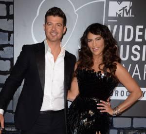 Paula Patton et son mari Robin Thicke lors des MTV Video Music Awards 2013.