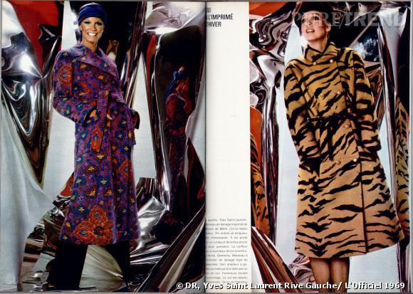 Yves Saint Laurent Rive Gauche.  L'Officiel  1969.