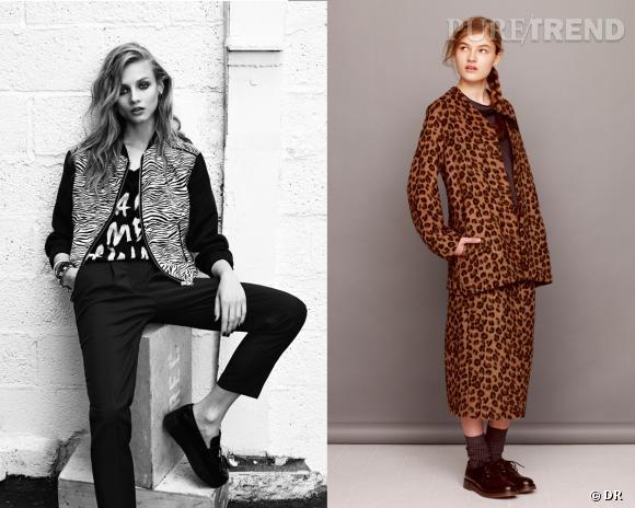 Shopping tendance animal print : inspiration lookbook Mango et Asos