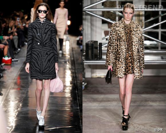 Shopping tendance animal print : inspiration podiums avec Carven et Moschino Cheap & Chic