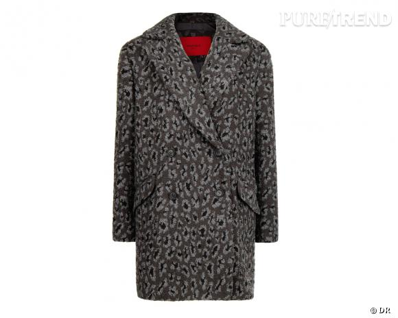 Shopping tendance animal print : manteau Mango, 119,99 €