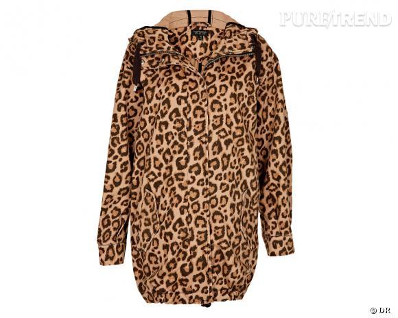 Shopping tendance animal print : parka Topshop, 85 €