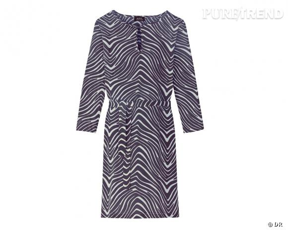 Shopping tendance animal print : robe A.P.C, 130 €