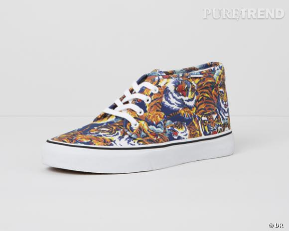 Shopping tendance animal print : sneakers Vans x Kenzo, à partir de 90 €