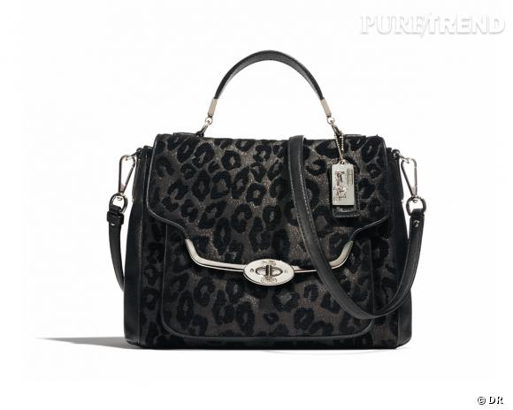 Shopping tendance animal print : sac Madison, Coach, 425 €