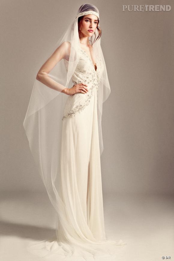 Les plus belles robes de mariée 2014  Temperley Iris Bridal 2014 collection, modèle Romily et voile Gatsby Crystal.