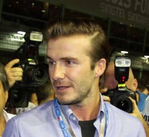 David Beckham et son fils Brooklyn, indemnes apres un accident de voiture