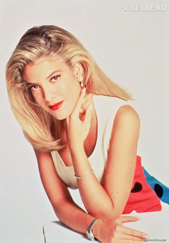 Tori Spelling à l'époque de Beverly Hills, dans les années 90.