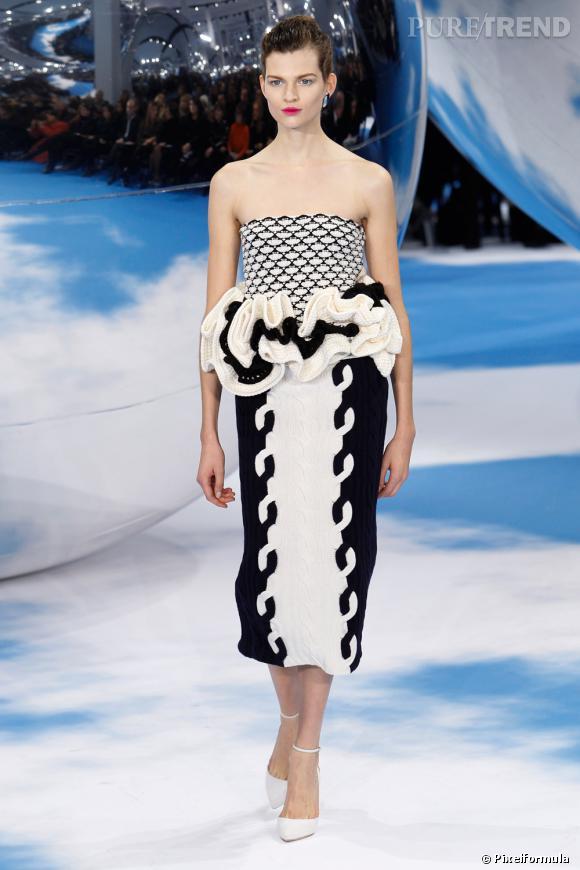 Le noir & blanc graphique, tendance vue chez Christian Dior  Défilé Automne-Hiver 2013/2014