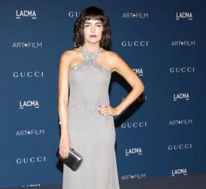Camille Bell et sa nouvelle coupe au gala du LACMA 2013.