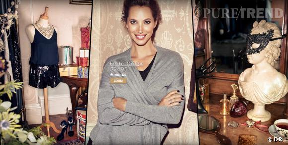 Christy Turlington, égérie de la campagne du Noël 2013 d'H&M.