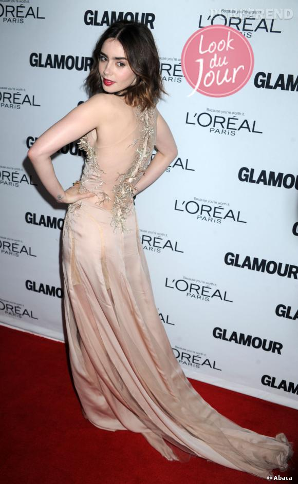 Lily Collins lors des Glamour Women of the Year Awards 2013 à New York.