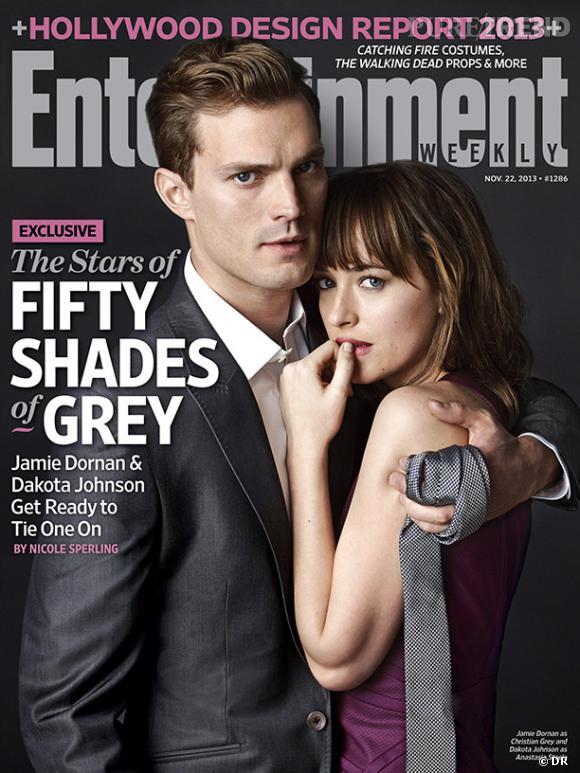 """Entertainment Weekly met en couverture les deux amants """"50 Nuances de Grey"""", Jamie Dornan et Dakota Johnson."""