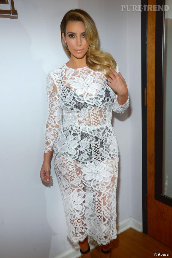 Kim Kardashian sur son 31 pour une apparition TV.