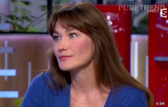 """Carla Bruni a reglé ses comptes avec Patrick Cohen, hier soir dans """"C à vous""""."""